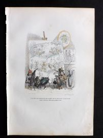 Grandville 1842 Hand Col Print. Insects painting a picture
